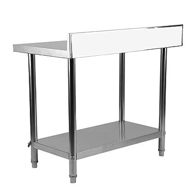 yesper Acero Inoxidable Trabajo – Mesa Gastro Alimentos Preparación de acero inoxidable gewerbl iche mesa de trabajo para cocina Bar Restaurante 100 x ...