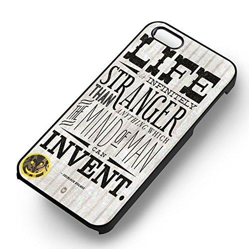 Sherlock Holmes Quotesfor Coque Iphone 6 et Coque Iphone 6s Case (Noir Boîtier en plastique dur) S6N4KE