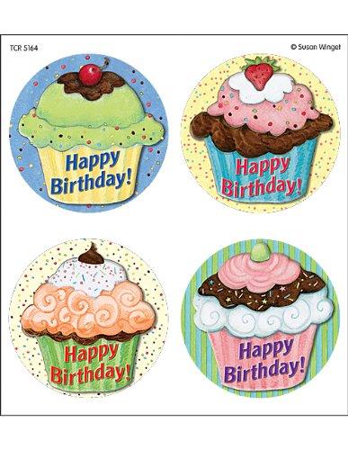 (Teacher Created Resources SW Cupcakes WearEm Badges, Multi Color (5164))