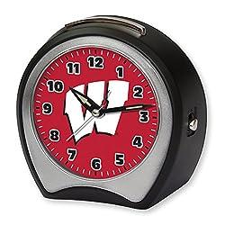 NCAA Collegiate Team Glow-in-the-Dark Table Musical Alarm Clock: University of Wisconsin