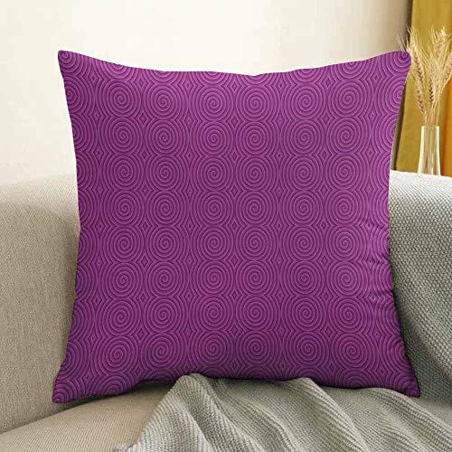 FreeKite Magenta Printed Custom Pillowcase Turning Rotary Spiral Tile Twist Symmetrical Spinning Plural Motion Modern Image Decorative Sofa Hug Pillowcase W16 x L16 Inch Bubblegum