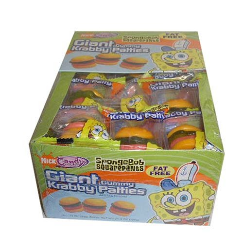 SpongeBob Squarepants Giant Gummy Krabby Patties 0.63 OZ (36 Count) -