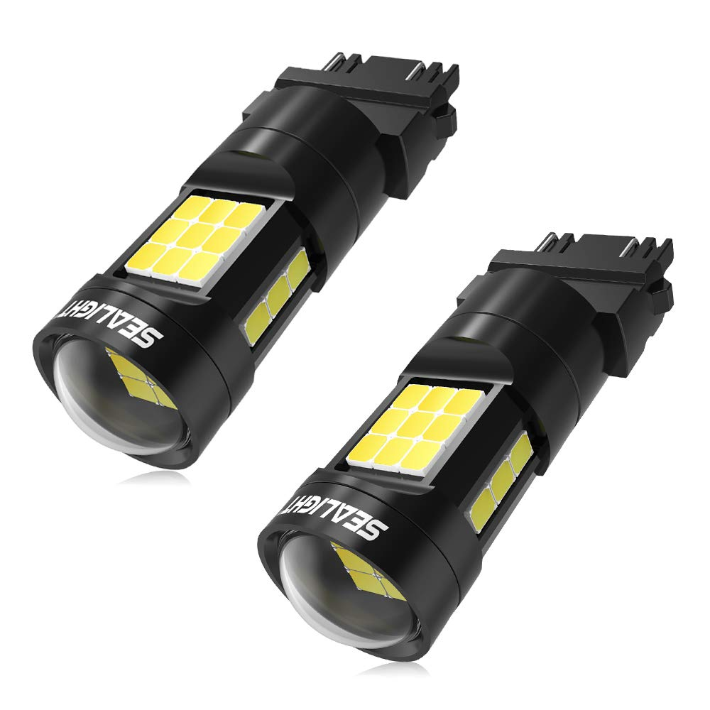 Pack of 2 7443 7440 Led Bulbs For Backup reverse Light,SEALIGHT Super Bright 1600 Lumens 7441//7443//992 LED Bulbs With Projector Lens for Reverse Tail Parking lights-1 YR Warranty