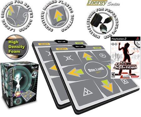(2 Dance Dance Revolution Multi-Platform Super Sensors Energy Super Deluxe Dance pad for PS/PS2/Xbox/)