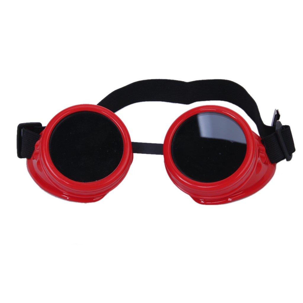 Gafas Cibernéticos Rústico De Steampunk Del Vintage Soldadura Gafas Cosplay Goth Foto Rojos: Amazon.es: Juguetes y juegos