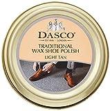 Dasco Traditional Wax Shoe Polish, 50ml tin (Light Tan)