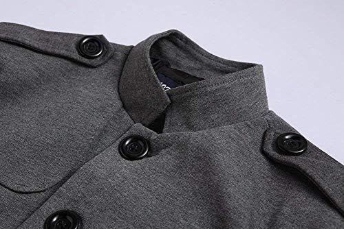 Manches Costume Col Hommes À Slim Manteau Veste Mieuid Cut Vestes Automne Chic Grau Longues HqvwE1qdxF