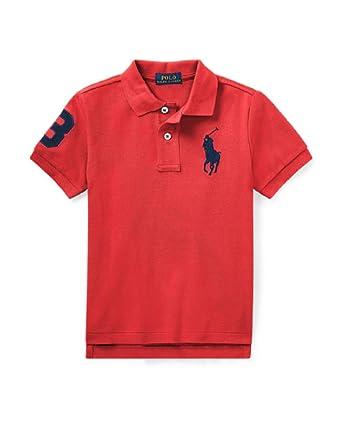 3830ec73c Image Unavailable. Image not available for. Color: RALPH LAUREN Boys Cotton  Mesh Polo Shirt ...