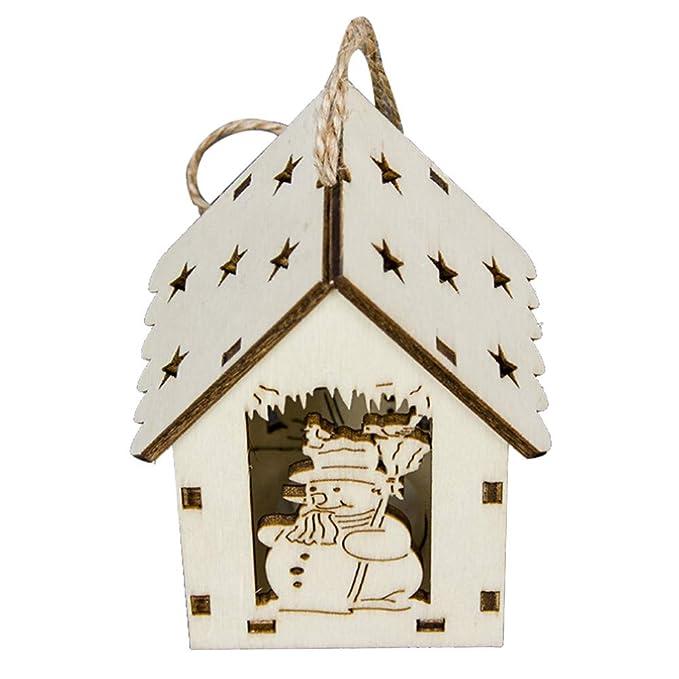 Vintage Adornos Navidad Madera con Luz Decoracion para Mesa Arbol Casa Jardin Puerta Entrada Feliz Navidad: Amazon.es: Ropa y accesorios