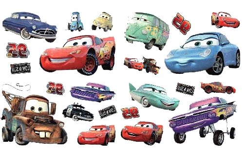 Amazon.com: Disney Pixar Cars Decorative Wall Stickers Set: Toys U0026 Games Part 14