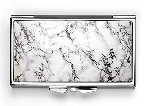 (Marble Background Pill Box Compact Rectangle 7 Day Pill Box Pill)