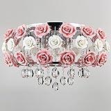 LightInTheBox Idyllic Modern Crystal 5 Light Pendant Decorated with Pink Flower