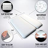 """GORILLA GRIP Original Spa Bath Pillow Features Powerful Gripping Technology, Comfortable, Soft & Large (14.5"""" x 11"""") Luxury 2-Panel Design for Shoulder & Neck Support. Fits Any Size Tub, Jacuzzi, Spas"""