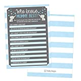 Baby : 25 Blue Elephant Baby Shower Games Ideas For Boys, Fun Party Activities Who Knows Mommy Best Gender Neutral Reveal Parent Guessing Funny Questions Bundle Kids, Mom, Dad and Coed Couples Little Peanut