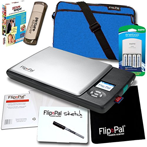 Record Port Deluxe (Flip-Pal Pro Bundle: With SD to USB adapter and 4GB SDHC card. StoryScans talking images and EasyStitch automatic stitching software included on SD card. Ideal for professionals and frequent users.)