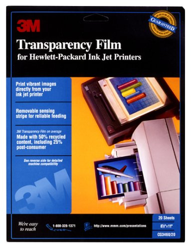 graphic regarding Printable Transparencies named 3M CG 3460 Inkjet Transparency Movie
