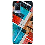 SmartNxt® Designer Printed Soft Plastic Mobile Cover for Vivo V21 5G||Pattern||Multi-Coloured||with White Patch 2021 August