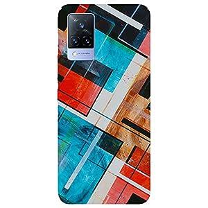 SmartNxt® Designer Printed Soft Plastic Mobile Cover for Vivo V21 5G  Pattern  Multi-Coloured  with White Patch