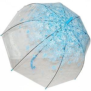 Kung Fu Smith Half Automatic Clear Flower Bubble Dome Shape Rain Umbrella