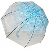 Kung Fu Smith Clear Umbrella, Bubble Dome Transparent Umbrella for Weddings Windproof