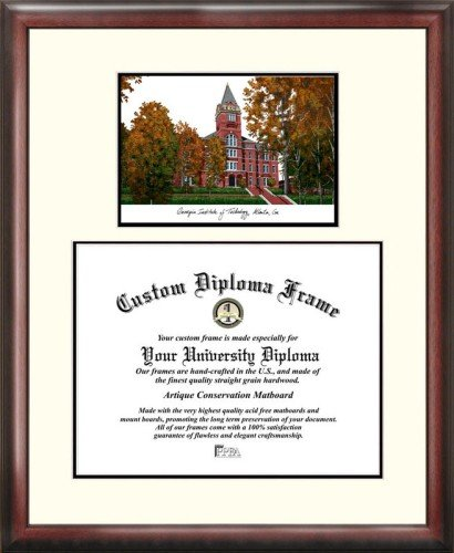 Georgia Institute of Technology Scholar Framed Lithograph with Diploma by Landmark Publishing