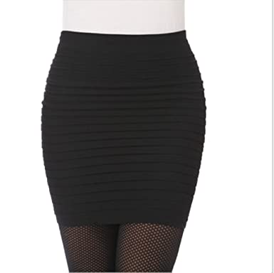 MINDENG Women's Sexy Mini Skirt Slim Stretch Tight Short Fitted ...