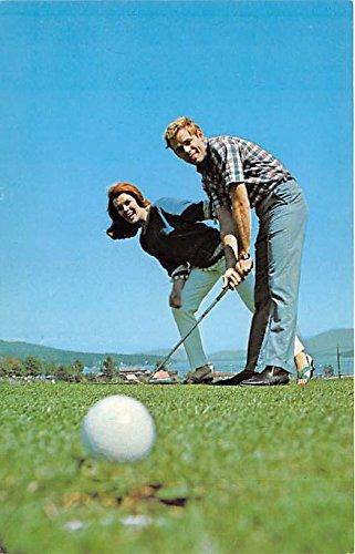 Holiday Inn Lake George, New York, NY, USA Old Vintage Golf Postcard Post Card