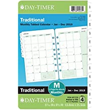 """Day-Timer Refill 2019, Two Page per Month, January 2019 - December 2019, 5-1/2"""" x 8-1/2"""", Loose Leaf, Desk Size, Classic (87229)"""