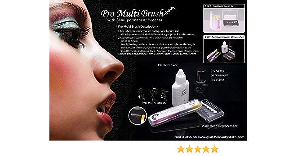 Pestañas Glamour EG Semi-permanente Máscara Kit - Para ...