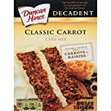Duncan Hines Moist Deluxe Decadent Carrot Cake Mix, 20.45-Ounce Boxes (Pack of 8)