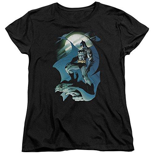 Trevco Batman Glow of The Moon Women's T Shirt, X-Large Black ()
