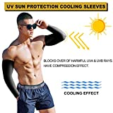 ZZKKO Philippines Flag Cooling Arm Sleeves Cover Uv Sun Protection for Men Women Running Golf Cycling Arm Warmer Sleeves 1 Pair
