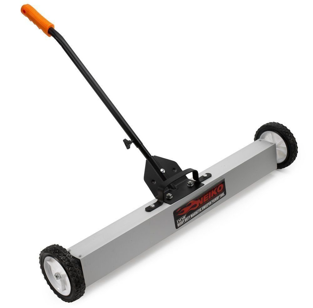 36 Heavy Duty Magnetic Floor Sweeper | XL Wide Pick Up Roller Push Broom Tool