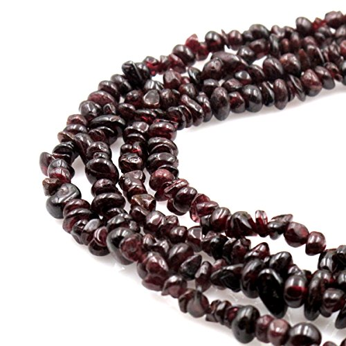 Garnet Chip Beads - BRCbeads Nice Garnet Chips Beads 7-8mm 34 Inches per strand For Jewelery Making