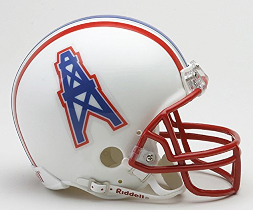 Throwback Football Nfl Helmet (Riddell Tennessee Titans / Houston Oilers Mini Replica Throwback Helmet)