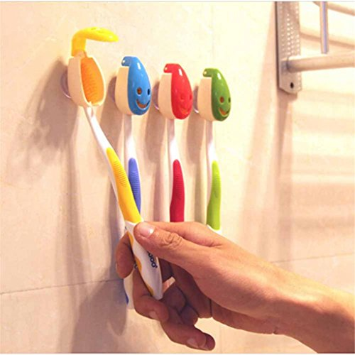 Toothbrush Holder Suction Bathroom Antibacterial