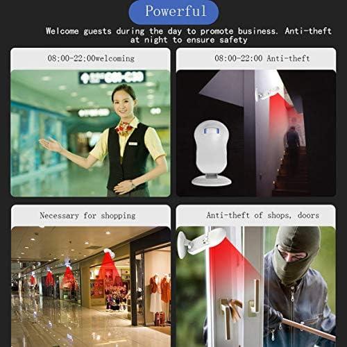 Tivollyff ワイヤレスドアベルストアショップ歓迎モーションセンサー赤外線検出器誘導アラームドアベルドアベル