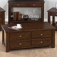 Jofran Box Coffee Table in Urban Lodge Brown