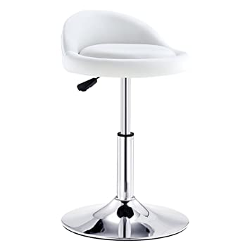 Barstools Chair with PU Seat Adjustable Swivel Gas Lift, Height 40-53cm for Kitchen