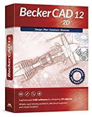 Becker CAD 12 2D - professional CAD software for 2D design and modelling - for 3 PCs - 100% compatible with AutoCAD