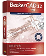 Becker CAD 12 2D - professional CAD software for 2D design and modelling - for 3 PCs - 100% compatible with Au