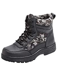 CHNHIRA Men's Steel Toe Boot Outdoor Unisex Fighting Hiking Safety Boots