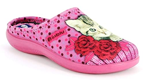 INBLU Pantofole Ciabatte Invernali da Donna Art. EC-22 Rosa  Amazon ... 684257a3bfb