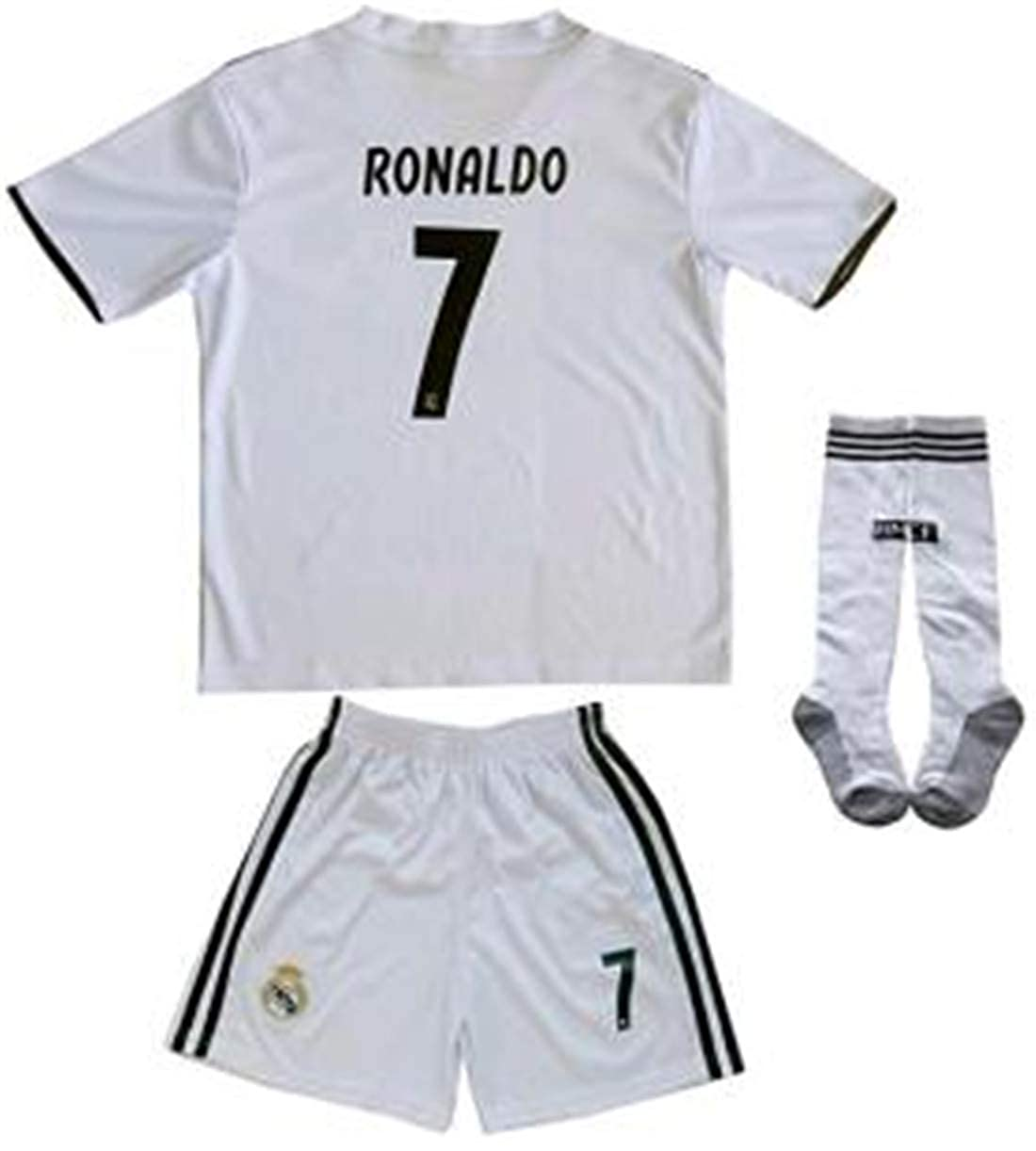new concept 14dfb d943d LISIMKE Soccer Team Home 2018/19 Real Madrid C Ronaldo #7 Kid Youth Replica  Jersey Kit : Jersey & Shorts & Socks