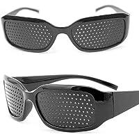 Raster bril gaten bril voor oogtraining en ontspanning kunststof anti-vermoeidheid oogoefening correctiebril voor sport