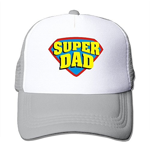 Custom Personalized Two-toned Super Dad Trucker Cap Hats Ash