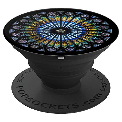 Pattern Cathedral stained glass windows - PopSockets Grip and Stand for Phones and Tablets