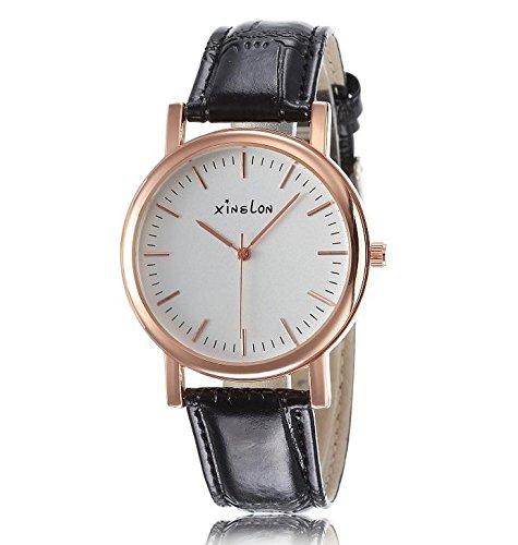 ab49edb59588 Heart   M Trend Casual Fácil Escala elegir Hombres Pulsera Color Rosa  Carcasa Oro Mujer Reloj