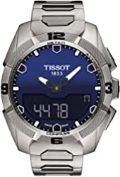 Tissot Women's T0914204404100 Analog Swiss Quartz Automatic Titanium Silver Watch