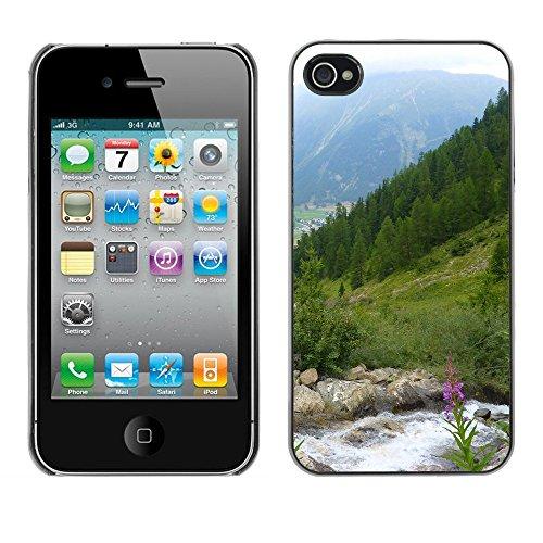 Premio Sottile Slim Cassa Custodia Case Cover Shell // F00004389 montagne en Suisse // Apple iPhone 4 4S 4G